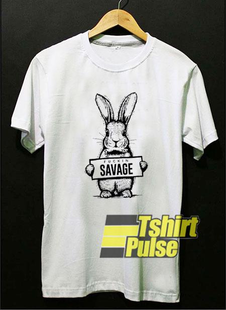 Fuckin Savage Bad Bunny Draw t-shirt for men and women tshirt