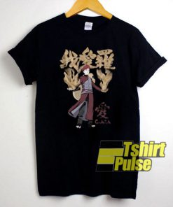 Gaara Kanji Anime Cartoon t-shirt for men and women tshirt