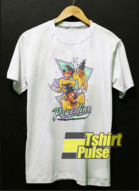 Goofy Movie Powerline Airbrushed t-shirt for men and women tshirt