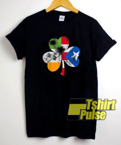 Irish Puerto Rican Shamrock t-shirt for men and women tshirt