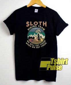 Official Camping Sloth Hiking Team t-shirt for men and women tshirt