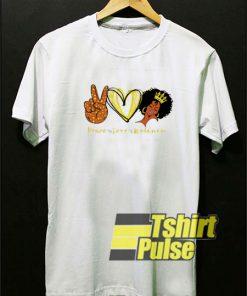 Peace Love Melanin t-shirt for men and women tshirt