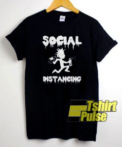 Rick Social Distancingd t-shirt for men and women tshirt