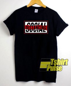 Social Distancing Graphic Box t-shirt for men and women tshirt