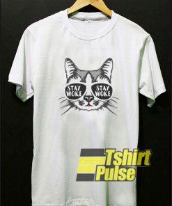 Stay Woke Cat t-shirt for men and women tshirt