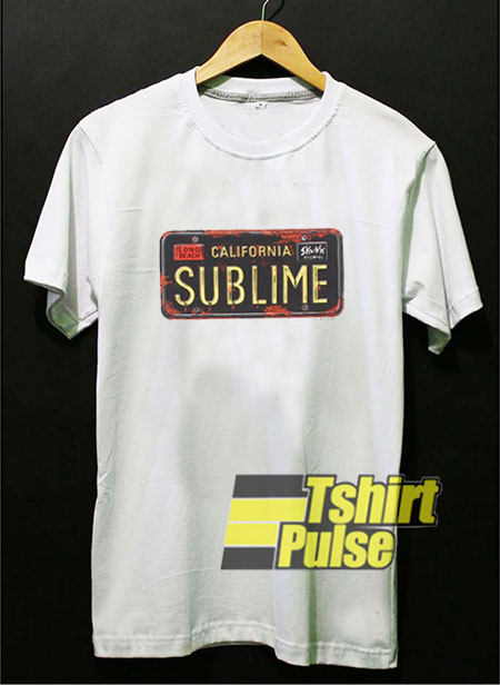 Sublime License Plate t-shirt for men and women tshirt