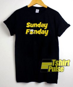 Sunday Funday Beers t-shirt for men and women tshirt