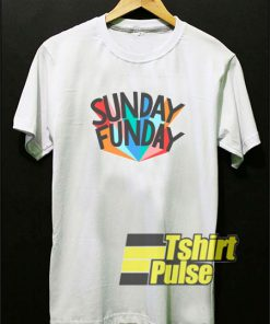 Sunday Funday Colour t-shirt for men and women tshirt