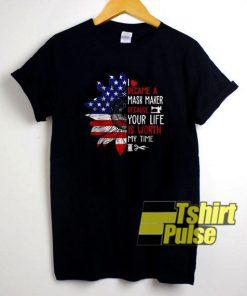 Sunflower Flagger Mask Maker t-shirt for men and women tshirt