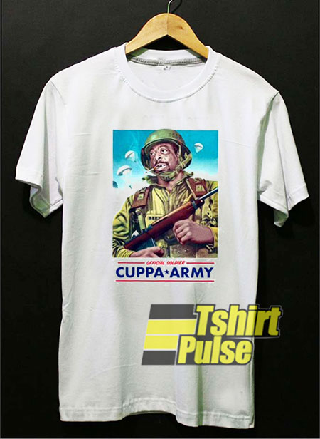 The Cuppa Army t-shirt for men and women tshirt