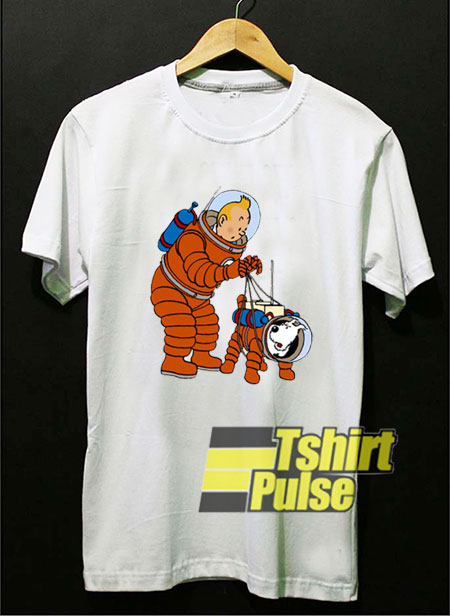 Tintin Astronaut t-shirt for men and women tshirt