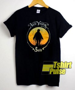 Vintage Neil Young Solo Tour t-shirt for men and women tshirt