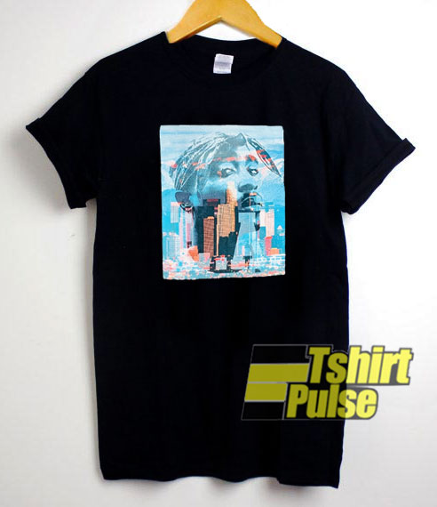 Vintage Tupac Colour Graphic t-shirt for men and women tshirt
