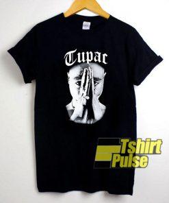 Vintage Tupac Praying Hand t-shirt for men and women tshirt