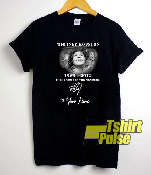 Whitney Houston 1963-2012 t-shirt for men and women tshirt