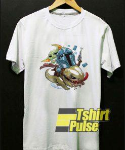 Funny Mandalorian Baby Yoda t-shirt for men and women tshirt