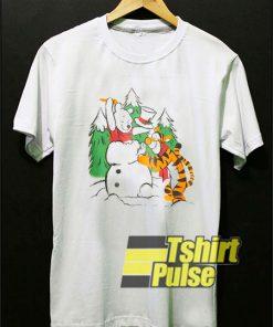 Winnie The Pooh Snowman t-shirt for men and women tshirt
