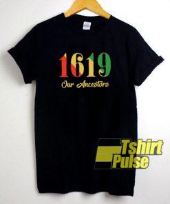 1619 Our Ancestors Rasta Colour t-shirt for men and women tshirt