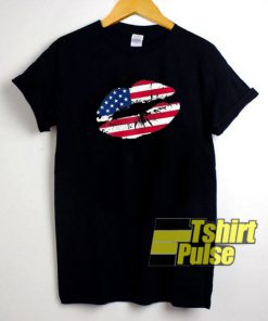 4Th Of July Kiss Lips t-shirt for men and women tshirt