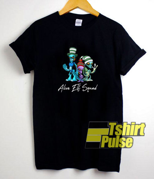 Alien Elf Squad Christmas t-shirt for men and women tshirt