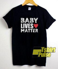 Baby Lives Matter Heart t-shirt for men and women tshirt