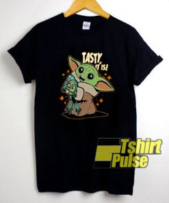 Baby Yoda And Frog tasty It Is t-shirt for men and women tshirt
