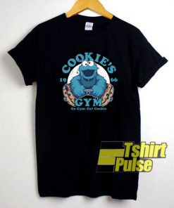 Cookies Gym Cookie Monster t-shirt for men and women tshirt