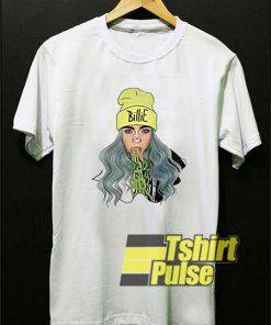 Funny Billie Eilish Cartoon t-shirt for men and women tshirt