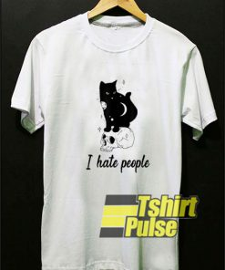 Funny Cat I Hate People t-shirt for men and women tshirt