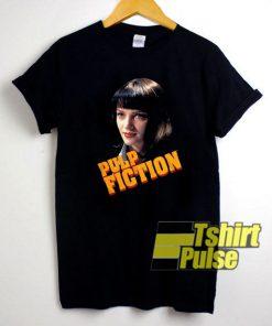 Mia Wallace Portrait Pulp Fiction t-shirt for men and women tshirt
