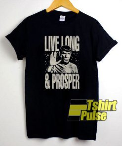 Monotone Live Long Prosper Star Trek t-shirt for men and women tshirt