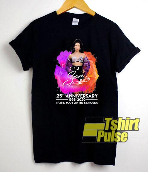 Selena 25th Anniversary t-shirt for men and women tshirt