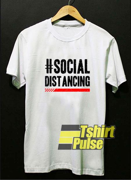 #Social Distancing Line Art t shirt for men and women tshirt