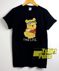 Winnie The Pooh Thug Life t-shirt for men and women tshirt