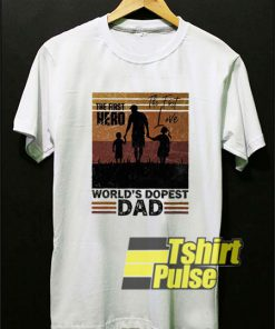 World's Dopest Dad Retro t-shirt for men and women tshirt