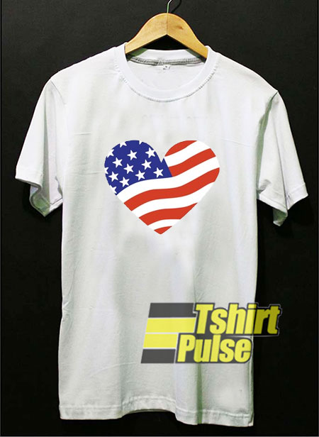 American Flag Heart t-shirt for men and women tshirt