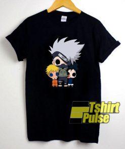 Anime Chibi Kakashi Naruto Sasuke t-shirt for men and women tshirt