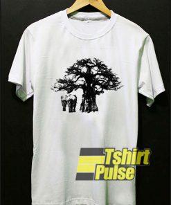 Baobab Tree And Elephant t-shirt