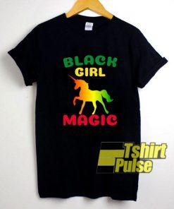 Black Girl Magic Unicorn LGBT t-shirt for men and women tshirt