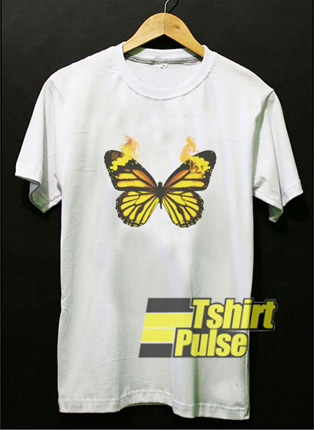 Fire Butterfly t-shirt for men and women tshirt