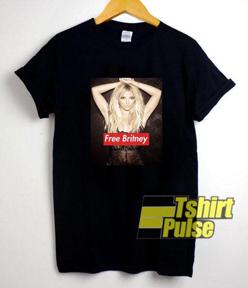 Free Britney Photos Logot-shirt for men and women tshirt