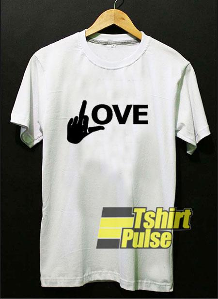 Fuck Love Hand t-shirt for men and women tshirt