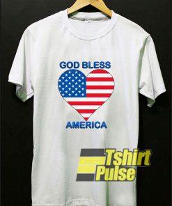 God Bless America Heart t-shirt for men and women tshirt