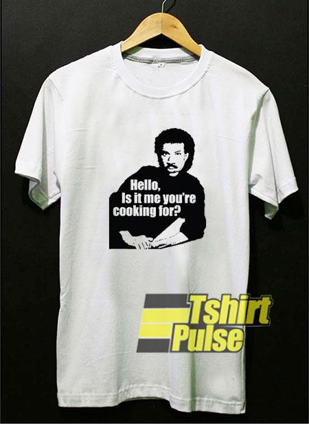 Hello Lionel Richie Apron t-shirt for men and women tshirt