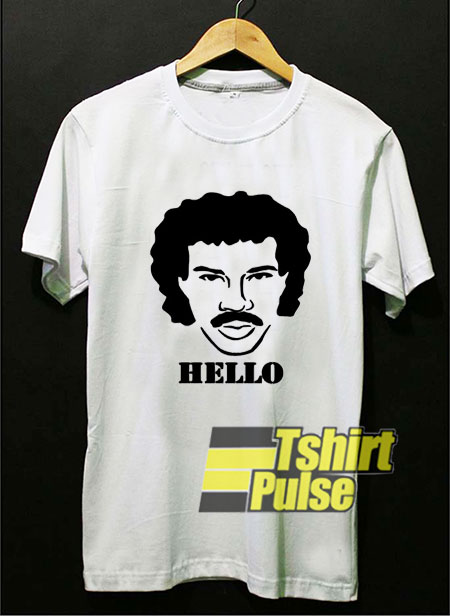 Hello Lionel Richie Painting t-shirt for men and women tshirt