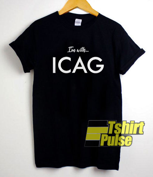 I'm with ICAG Letter t-shirt for men and women tshirt