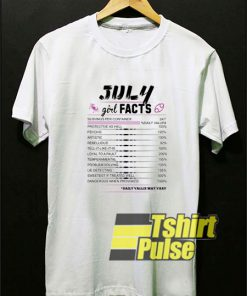 July Girl Facts Cancer t-shirt for men and women tshirt