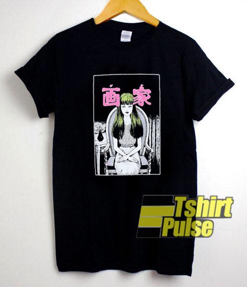 Junji Ito Portrait t-shirt