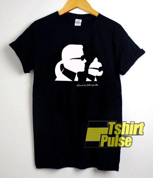 Karl Lagerfeld Choupette t-shirt for men and women tshirt