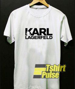 Karl Lagerfeld Lettering Art t-shirt for men and women tshirt